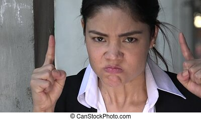 Hispanic Woman And Anger