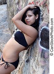 Hispanic Woman Bikini