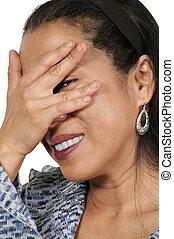 Hispanic Woman - Lovely middle aged hispanic latino woman...