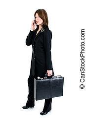 Hispanic Woman Suit - Beautiful business woman with...