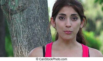 Hispanic Woman Talking