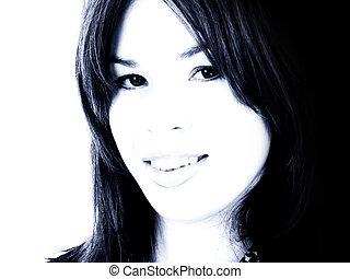 Hispanic Woman Teen - Beautiful young Hispanic woman...