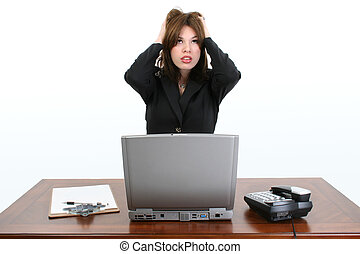 Hispanic Woman Work - Beautiful and stressed young Hispanic ...
