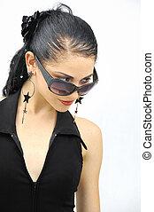 hispanic, wzór, z, sunglasses