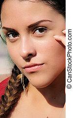 Hispanic Young Girl Teen