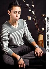 Hispanic young man - Fine art portrait of hispanic young man