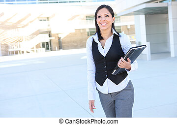 hispanique, femme affaires