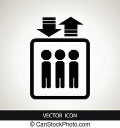 hiss, symbol., vector.