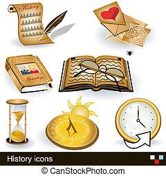 história, ícones
