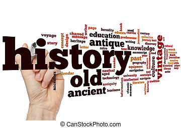história, palavra, nuvem