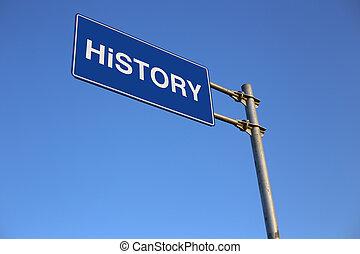história, sinal estrada