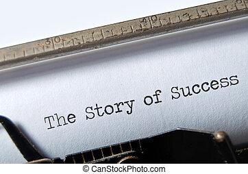 história, sucesso