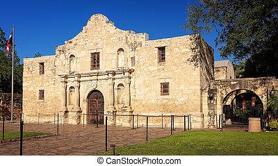 histórico, alamo, em, san antonio, texas