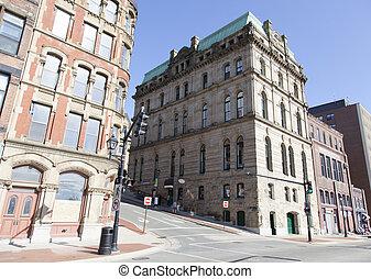 histórico, arquitetura, canadense