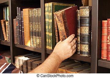 histórico, biblioteca