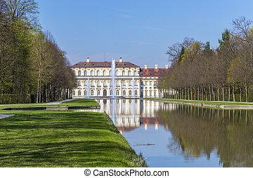 histórico, castillo, schleissheim, cerca, munich