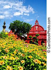 histórico, christ, igreja, malacca, malásia