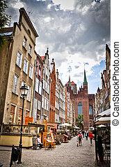 histórico, cidade, de, gdansk