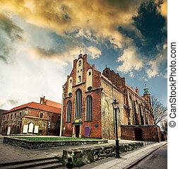 histórico, cidade velha, de, gdansk