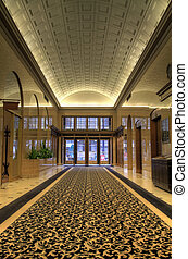 histórico, edifício escritório, lobby