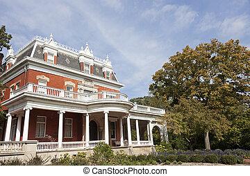 histórico, ellwood, casa, em, dekalb