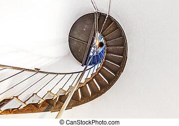 histórico, escadaria, dentro, aponte farol arena, em,...