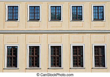 histórico, fachada, em, dresden