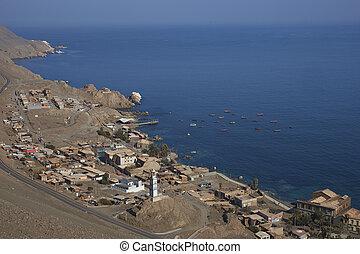 histórico, litoral, cidade, de, pisagua
