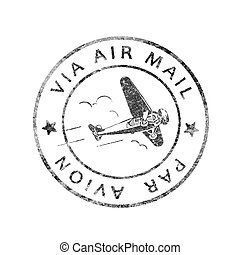 histórico, matasellos, correo aéreo