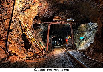 histórico, ouro, prata, cobre, mina