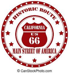 histórico, route-stamp