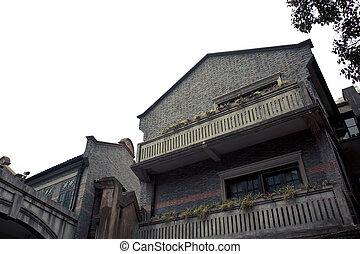 histórico, shanghai, predios