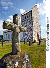 histórico, sueco, igreja