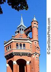 histórico, torre água