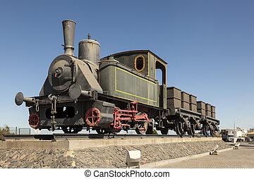 histórico, trem, vapor