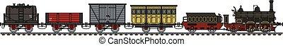histórico, trem vapor