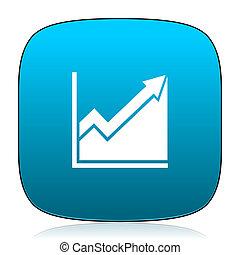 histogram blue icon