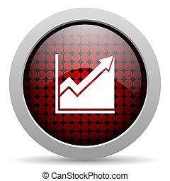histogram glossy icon