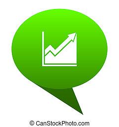 histogram green bubble icon