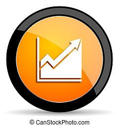 histogram orange icon