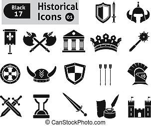 histoical, ikony