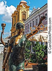 histoire, 1, statues, ancien