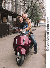 histoire, amour, couple, motocyclette, équitation, aimer