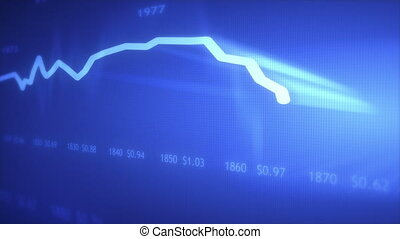 histoire, dollar, indice, graphique