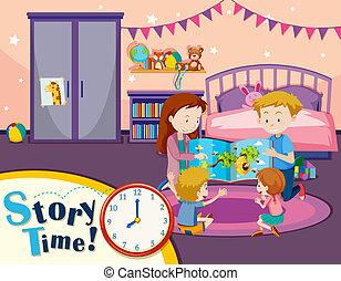 histoire, lecture, temps famille