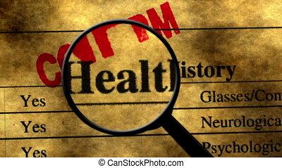 historia, badawczy, pojęcie, zdrowie