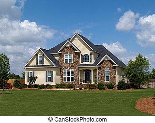historia, dwa, dom, mieszkaniowy