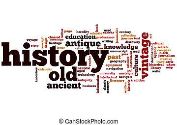 historia, palabra, nube