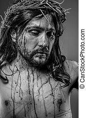 historia, representation, av, jesus kristus krysset