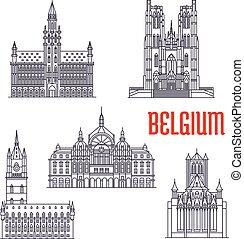 historic épület, belgium, építészet